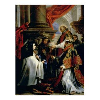 Communion of St. Teresa of Avila  c.1670 Postcard