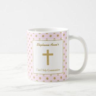 Communion Pink with Gold Polka Dots Coffee Mug