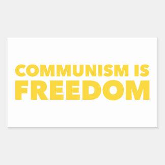 Communism is Freedom Rectangular Sticker