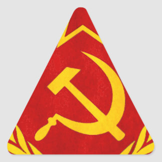 communism Russian symbol Triangle Stickers