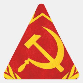communism Russian symbol Triangle Sticker