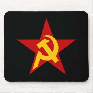 Communist DHKC Star Hammer & Sickle PC Mouse Pad