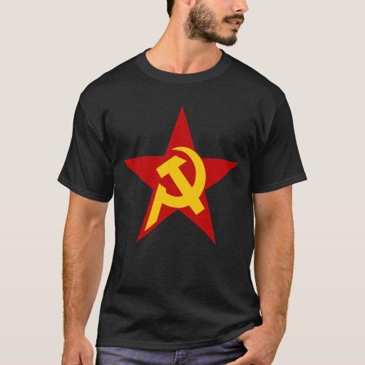 Communist DHKC Star on Black T-Shirt