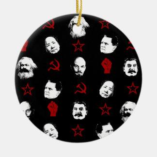 Communist Leaders Ceramic Ornament