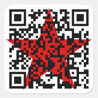 Communist manifesto QR code Square Sticker
