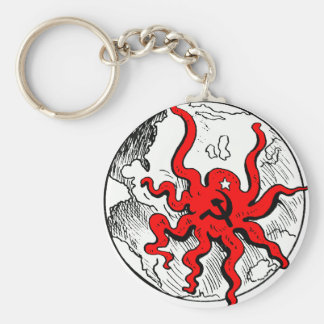 Communist Octopus Key Ring