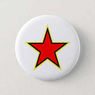 Communist Red Star 6 Cm Round Badge
