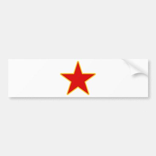 Communist Red Star Bumper Sticker