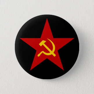 Communist Red Star (hammer & sickle) button