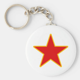 Communist Red Star Key Ring