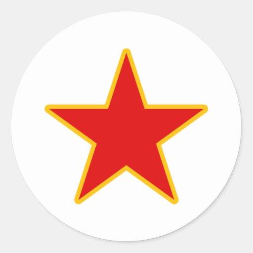 Communist Red Star Sticker