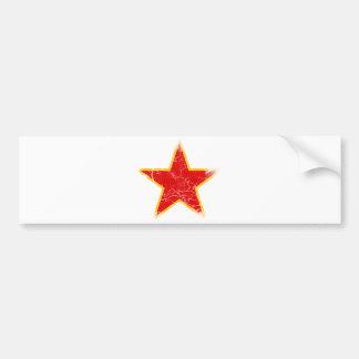 Communist Red Star Vintage Bumper Sticker