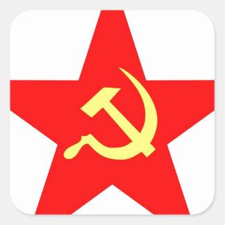 Communist star square sticker