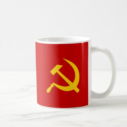 Communist USSR Russian Hammer and Sickle Mugs