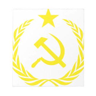 Communiste Cold War Flag Notepad