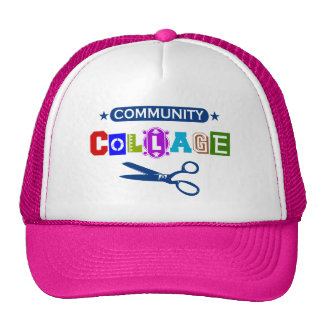 Community Collage - Funny Arts and Crafts Pun Mesh Hats