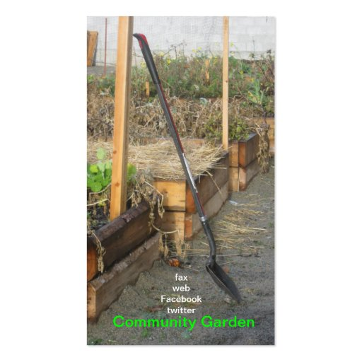 Community Garden Business Card
