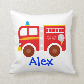 community helper pillow (fire truck, police car