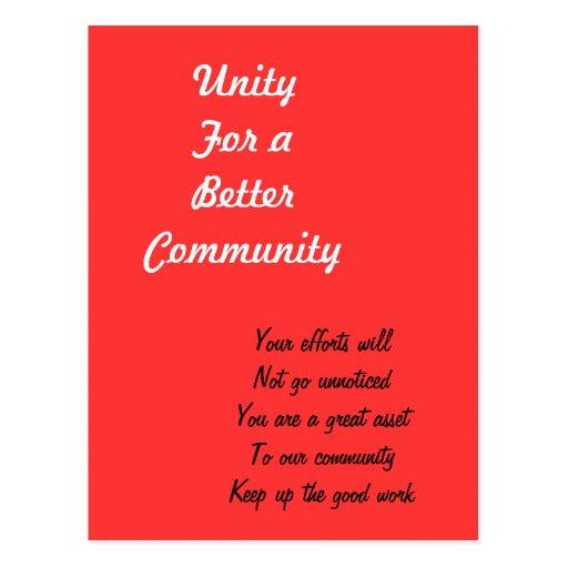 Community hero postcards
