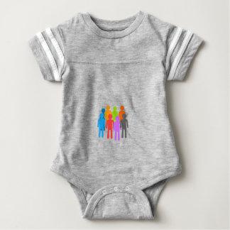 Community of people baby bodysuit