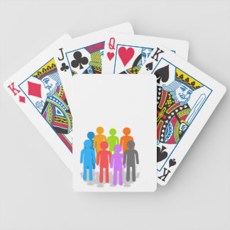 Community of people bicycle playing cards