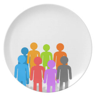 Community of people plate