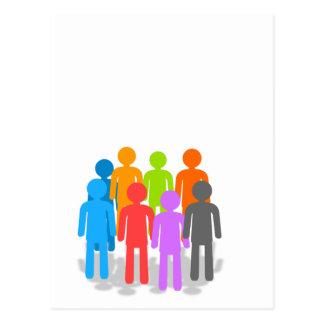 Community of people postcard