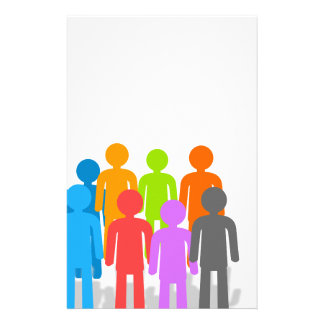 Community of people stationery