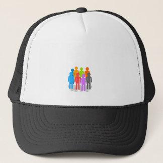 Community of people trucker hat