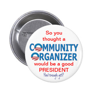 Community Organizer Obama Button