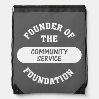 Community Service Drawstring Backpacks
