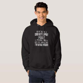 COMMUNITY SUPPORT SPECIALIST HOODIE