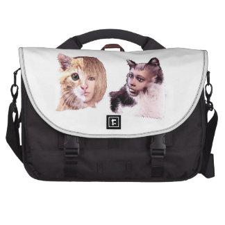 Commuter Laptop Bag - cat people design