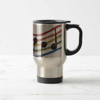 Commuter music notes travel mug