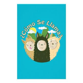 Como Se Llama? Customized Stationery