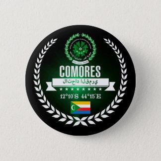 Comoros 6 Cm Round Badge