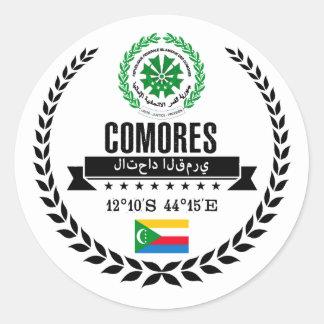 Comoros Classic Round Sticker