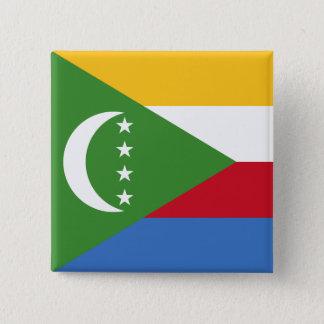 Comoros Flag 15 Cm Square Badge