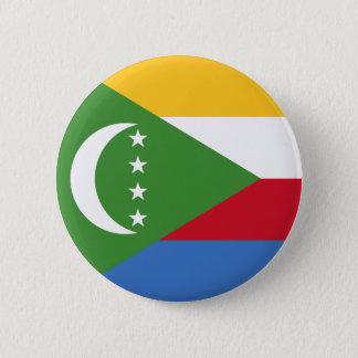 Comoros Flag 6 Cm Round Badge