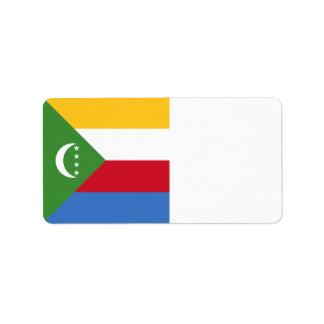 Comoros Flag Address Label