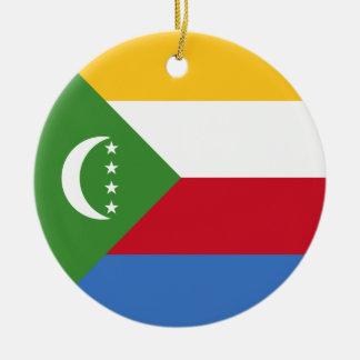 Comoros Flag Ceramic Ornament