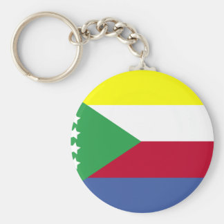Comoros Flag Key Ring