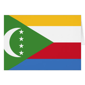 Comoros Flag Note Card