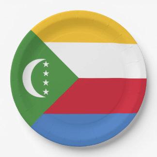 Comoros Flag Paper Plate