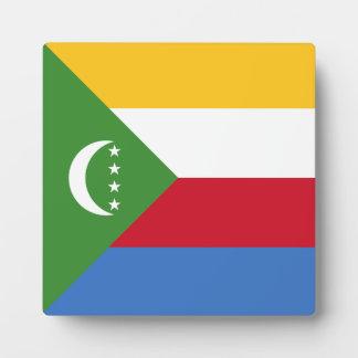 Comoros Flag Plaque