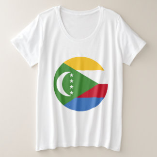 Comoros Flag Plus Size T-Shirt