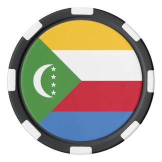 Comoros Flag Poker Chips