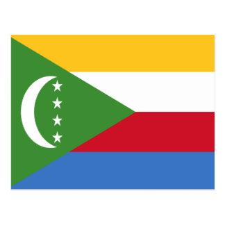 Comoros Flag Postcard