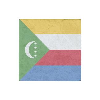 Comoros Flag Stone Magnet