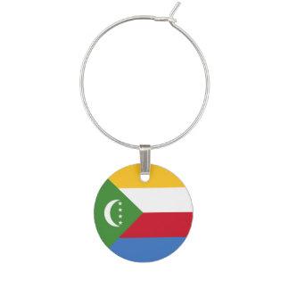 Comoros Flag Wine Charm